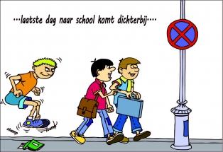 laatste dag naar school kleur